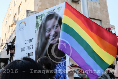 Gay Pride March 2016 in Jerusalem, Israel