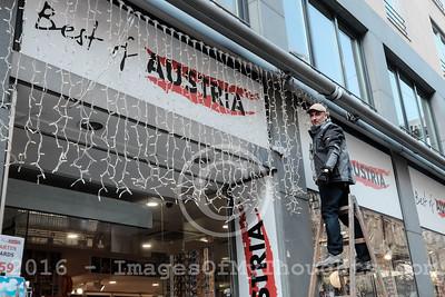 Preparations for Christmas 2016 in Vienna, Austria