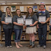 Chadron State College tutors who have been internationally certified were honored at a ceremony in the King Library Tuesday, May 3, 2016. From left, Elijah Timblin, Alyssa Sanders, Morgan Hays, Jessica Hartman, Jake Murphy, Brianna Blunck. Not pictured: Coy Clark. (Photo by Tena L. Cook/Chadron State College)