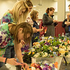 Students make flower headbands in the Chicoine Center Saturday during Spring Daze. (Photo by Tena L. Cook/Chadron State College)