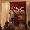 Tim Elmore, founder of Growing Leaders, speaks in the Chadron State College Student Center Ballroom Sept. 29, 2016. (Photo by Tena L. Cook/Chadron State College)