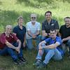 Chadron State College staff in College Relations. From left, Dewayne Gimeson, Tena Cook, Bruce Huckfeldt, Alex Helmbrecht, Daniel Binkard and Craig Conway. (Photo by Daniel Binkard/Chadron State College)