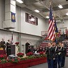 Chadron State College Army ROTC cadets present the colors at the beginning of CSC's winter undergraduate commencement ceremony Friday, Dec. 16, 2016, in the Chicoine Center. (Photo by Tena L. Cook/Chadron State College)
