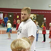 Truett Box of Cheyenne Wells, Colorado, instructs kids participating in Jump Rope for Heart in the Nelson Physical Activities Center, Nov. 2, 2016. (Photo by Conor Casey/CSC)
