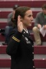 Megan McLean takes the oath of office while being commissioned as a second lieutenant in the U.S. Army during the Chadron State College undergraduate commencement in the Chicoine Center Friday, Dec. 16, 2016. (Photo by Tena L. Cook/Chadron State College)