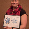 Volunteer Service Award recipient Christina Kostelc at the Rising Sophomore Recognition Ceremony Monday, April 25, 2016, in the Chadron State College Student Center. (Tena L. Cook/Chadron State College)
