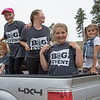 Young supporters of the Chadron State College football team show off their The Big Event T-shirts and face tattoos at the Chadron State Park April 23, 2016. (Tena L. Cook/Chadron State College)
