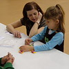 Sarah Russell, left, and her daughter, Julia, at Family Math Night in Hay Springs, Nebraska, in 2013. (Courtesy photo)