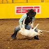 Chadron State College cowgirl Shelby Winchell, is the National Intercollegiate Rodeo Association's goat tying champion. Shown here Wednesday, June 15, 2016, when she tied her goat in 6.1 seconds at the College National Finals Rodeo in Casper, Wyoming.  (Hubbell Rodeo Photo)