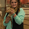 The petting zoo in the Coffee Agriculture Pavilion was a popular feature during Spring Daze Saturday. (Photo by Tena L. Cook/Chadron State College)
