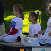 Children pose on a Chadron State College 2016 Homecoming parade float. (Photo by Conor Casey/CSC)