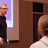"Paul Wesselman speaks to the attendees of his presentation, ""Shut up, you Stupid, Crazy Meany,"" in the Student Center Ballroom, Nov. 3, 2016.  (Photo by Conor Casey/CSC)"