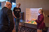 Kaci Waugh, right, a Chadron High School student, explains her team's plans to improve Chadron to participants in the Rural Futures Initiatives Forum Wednesday, Sept. 28, 2016. (Photo by Tena L. Cook/Chadron State College)