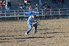 Chadron State College rodeo team member Brandi Cwach of Geddes, South Dakota, during the goat tying competition at the CSC rodeo in September 2016. She was second in the event at Lamar and also runner-up all-around cowgirl.  (Photo by Con Marshall)