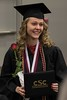 Marci Luton poses during the Chadron State College undergraduate commencement in the Chicoine Center Friday, Dec. 16, 2016. (Photo by Tena L. Cook/Chadron State College)
