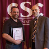 Dr. Lee Miller, Teaching Excellence nominee, and Dr. Charles Snare at the annual Chadron State College Faculty and Staff Recognition Luncheon April 14, 2016. (Tena L. Cook/Chadron State College)