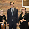 Guest musician Margaret Miller, left, poses with Chadron State College music faculty members Brooks Hafey and Pam Shuler Sunday, Sept. 25, 2016, following a performance in the Sandoz Center Chicoine Atrium. Miller is a former professor of Hafey's. (Photo by Tena L. Cook/Chadron State College)