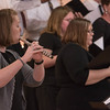 Chadron State College adjunct faculty member Lauren Stephens, left, plays a flute solo during the annual CSC Community Choir concert in the Chadron Arts Center in April 2016. (Tena L. Cook/Chadron State College)