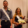 Taylor Osmotherly of Crawford, Nebraska, and Kayla Morgan of Alliance, Nebraska, are crowned Chadron State College king and queen of homecoming in the Student Center Ballroom, Oct. 5, 2016. (Photo by Conor Casey/CSC)