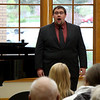 Zachary Henderson of Douglas, Wyoming, performs at his Senior Voice Recital in the Chicoine Atrium, April 29, 2016. (Photo by Conor Casey/CSC)