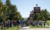 Participants in the second annual Out of the Darkness Walk in support of suicide prevention and awareness on Saturday, Sept. 24, 2016. (Photo by Tena L. Cook/Chadron State College)