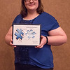 Artist of the Year Award recipient Bryony Trump at the Rising Sophomore Recognition Ceremony Monday, April 25, 2016, in the Chadron State College Student Center. (Tena L. Cook/Chadron State College)