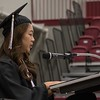 Heather Ong offers the opening moment of reflection at Chadron State College undergraduate commencement Friday, Dec. 16, 2016, in the Chicoine Center. (Photo by Tena L. Cook/Chadron State College)
