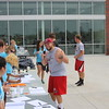 Zach Smith of Gering, Neb. signs in for the Big Event after the Spring Game.<br /> (Photo by Alex Coon/CSC)