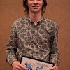 Excellence in the Advancement of Social Justice Award recipient Aaron Duin at the Rising Sophomore Recognition Ceremony Monday, April 25, 2016, in the Chadron State College Student Center. (Tena L. Cook/Chadron State College)