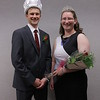 Chadron State College Ivy Day King Kale Lytle of Wall, South Dakota, and Queen Joslynn VanDerslice of Columbus, Nebraska May 6, 2016, in Memorial Hall. (Photo by Tena L. Cook/Chadron State College)