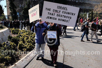 Pro Settlement Demonstration in Jerusalem, Israel
