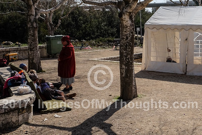 Amona Evacuees Tent Encampment in Jerusalem, Israel