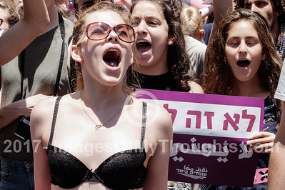 Slut Walk 2017 in Jerusalem, Israel