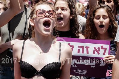 Slut Walk 2017 in Jerusalem, Israel