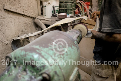 Shofar Manufacturing Ahead of the Jewish New Year in Tel Aviv, Israel