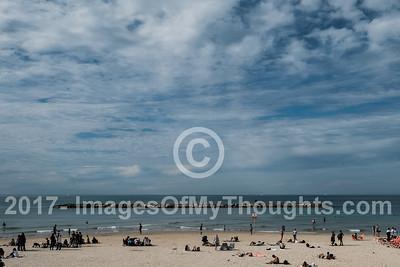 The Tel Aviv Mediterranean beach front.