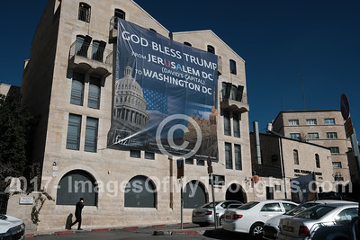 Trump Jerusalem Announcement Supoort in Jerusalem, Israel