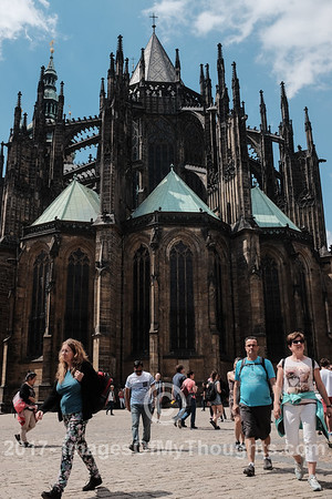 The Gothic Roman Catholic Saint Vitus Cathedral within the Prague Castle complex was built over a period of more than 400 years beginning 1344.