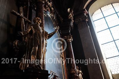 Interior of St. Nicholas Church, Kostel sv. Mikulase, in Mala Strana, Prague.