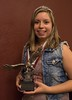 Teryn Blessin, Platinum Eagle recipient, poses at Chadron State College Ivy Day on May 5, 2017. The award, considered the highest honor a CSC student can receive, is presented annually to one male and one female for distinguished leadership and service. (Photo by Tena L. Cook/Chadron State College)