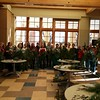 Chadron State College Campus Arboretum Volunteers greenery swag work day Nov. 18, 2017, in the Sandoz Center.  (Photo courtesy Lucinda Mays)