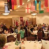 Campus and community members dine at the annual Chadron State College International Club's Food tasting party March 25, 2017, in the Student Center Ballroom. (Photo by Tena L. Cook/Chadron State College)
