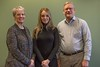 Sofia Trefilova, center, recently received a $500 scholarship from faculty members of the Chadron State College Education Association. The group awards annual student scholarships from their local dues. CSCEA scholarship committee members, from left, are Dr. Tracy Nobiling and Dr. Brad Wilburn. Not pictured, Dr. Matt Brust. (Photo by Tena L. Cook/Chadron State College)