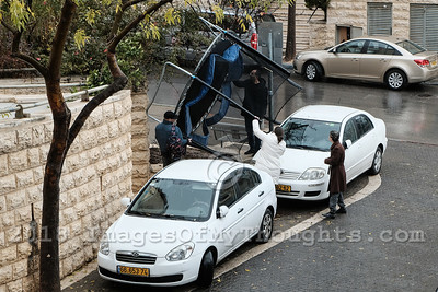 Blitz Storm in Jerusalem, Israel