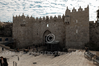 Security Measures at Damascus Gate in Jerusalem, Israel