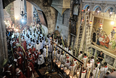 Palm Sunday 2018 in Jerusalem, Israel