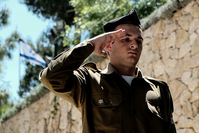 Memorial Day Preparations in Jerusalem, Israel