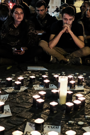 Flood Victims Candlelight Vigil in Jerusalem, Israel