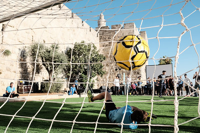 Football Competition in Jerusalem, Israel