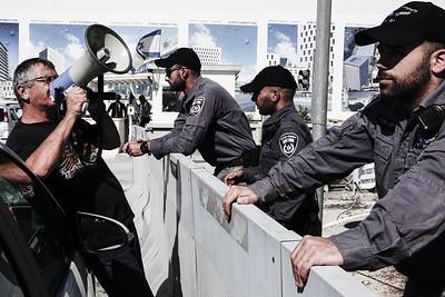 Police Retirees Demonstrate in Jerusalem, Israel